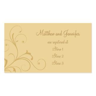Tarjetas amarillas de oro de encargo del registro plantillas de tarjetas de visita