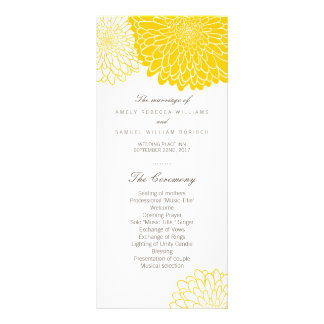 Tarjetas amarillas del estante del programa del tarjeta publicitaria