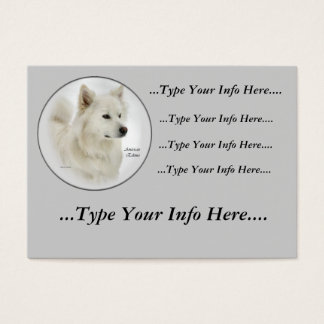 Tarjetas americanas del perfil del perro esquimal