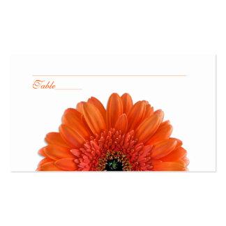 Tarjetas anaranjadas del lugar de la ocasión tarjetas de visita