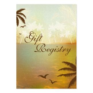 Tarjetas anaranjadas tropicales del registro de tarjetas de visita grandes