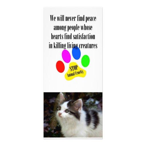 Tarjetas ANIMALES del estante de la CRUELDAD 4x9 d Tarjetas Publicitarias