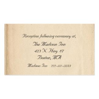 Tarjetas antiguas del recinto del boda plantilla de tarjeta de visita