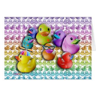 TARJETAS - arte pop de goma de Duckies