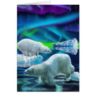 Tarjetas árticas de los osos polares y de