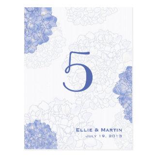 Tarjetas artísticas del número de la tabla de los postal