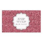 Tarjetas atractivas del estilista del Glitz rosado Plantilla De Tarjeta De Negocio
