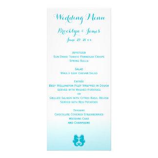 Tarjetas azules blancas de encargo del menú del lonas personalizadas