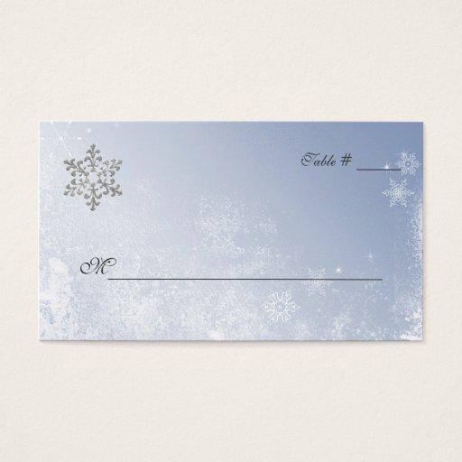 Tarjetas azules cristalinas del lugar del boda del tarjetas de visita