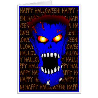 Tarjetas azules de Halloween del ZOMBI