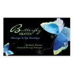 Tarjetas azules de la cita de la terapia del masaj plantilla de tarjeta personal
