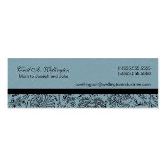 Tarjetas azules de la mamá de la flor tarjetas de visita mini