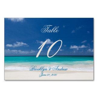 Tarjetas azules de la tabla de tarjetas del lugar