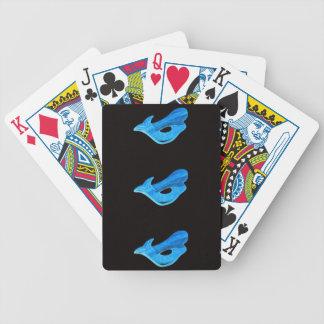 tarjetas azules de las sirenas baraja