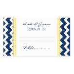 Tarjetas azules del cubierto de la tabla del boda  tarjeta de negocio