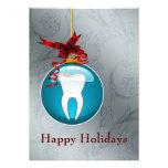 Tarjetas azules del día de fiesta del dentista anuncio personalizado