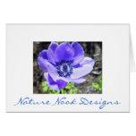Tarjetas azules del flor