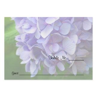 Tarjetas azules del lugar de la tabla del boda de tarjeta de visita
