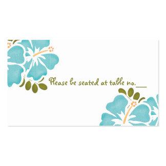 Tarjetas azules del lugar de la tabla del boda del tarjeta de visita