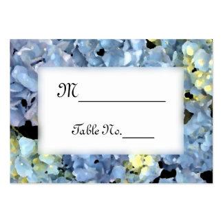 Tarjetas azules del lugar del boda del Hydrangea Tarjeta De Visita