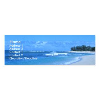 Tarjetas azules del perfil del océano tarjetas de visita mini