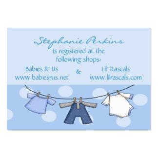 Tarjetas azules del registro de la ducha de los lu tarjetas de visita