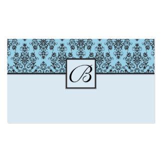 Tarjetas azules del registro de regalos del boda d plantilla de tarjeta de negocio