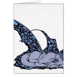 Tarjetas (azules) el dormir Dragonette