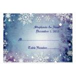Tarjetas azules hivernales del lugar del boda tarjeta de negocio
