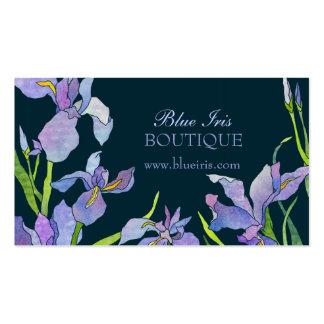 Tarjetas azules púrpuras de la cita de negocio de plantilla de tarjeta de negocio