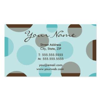 Tarjetas (azules) retras del perfil de los puntos tarjetas de visita