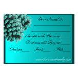 Tarjetas azules rústicas de RSVP del cono del pino Invitaciones Personales