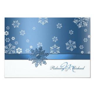 """Tarjetas azules y blancas del invierno de invitación 3.5"""" x 5"""""""