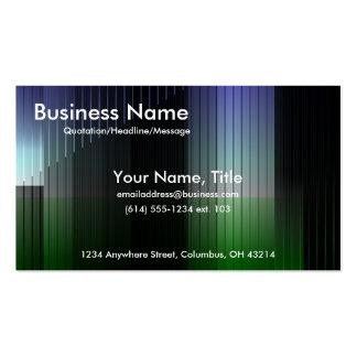 Tarjetas azules y verdes del negocio de las rayas  plantillas de tarjetas de visita