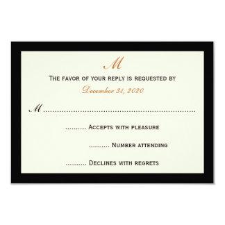 Tarjetas baratas simples de la invitación de RSVP