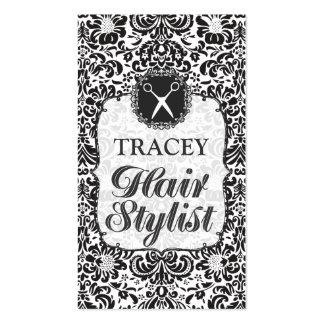 Tarjetas barrocas de la cita del estilista del dam tarjetas de negocios