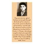 Tarjetas bendecidas del rezo de la canonización de tarjetas con fotos personalizadas