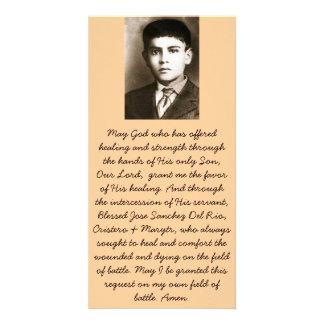 Tarjetas bendecidas del rezo de la canonización de tarjeta personal