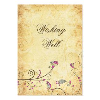 tarjetas bien que desean florales fucsias del tarjetas de visita grandes