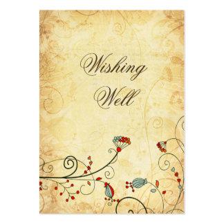 tarjetas bien que desean florales rojas del vintag plantillas de tarjeta de negocio