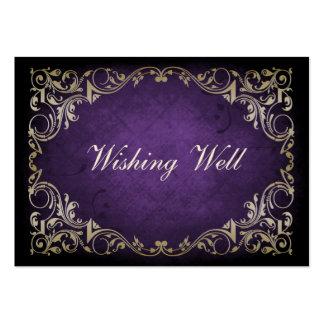 tarjetas bien que desean reales púrpuras rústicas tarjeta de visita