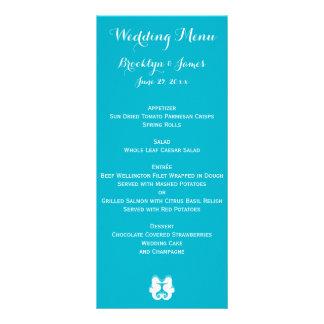 Tarjetas blancas azules de encargo del menú del lonas publicitarias