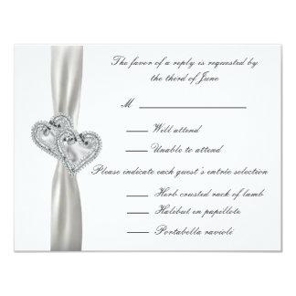 Tarjetas blancas de la respuesta del boda de los invitación 10,8 x 13,9 cm