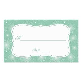 Tarjetas blancas del lugar de los resplandores sol tarjetas de visita
