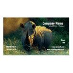 tarjetas blancas del perfil del safari del rinocer plantillas de tarjeta de negocio