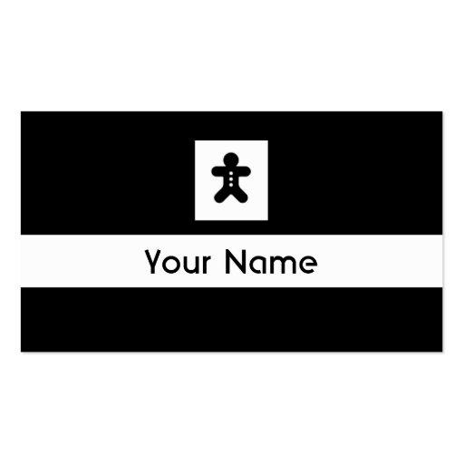 Tarjetas blancas negras de la hornada del hombre d plantillas de tarjetas de visita