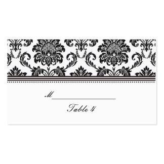 Tarjetas blancos y negros del lugar del boda del d tarjetas de visita