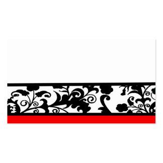 Tarjetas blancos y negros del lugar del damasco plantillas de tarjetas de visita