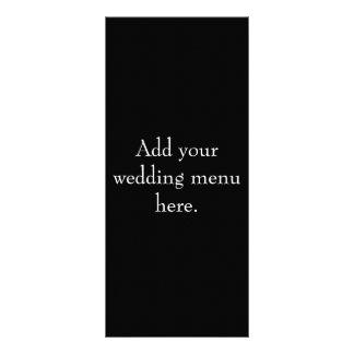 Tarjetas blancos y negros del menú de la recepción plantillas de lonas