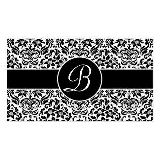 Tarjetas blancos y negros del registro de regalos  tarjetas de visita